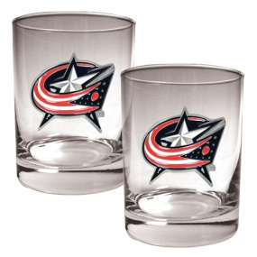 Columbus Blue Jackets 2pc Rocks Glass Set