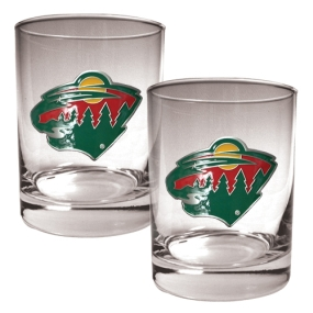 Minnesota Wild 2pc Rocks Glass Set