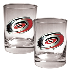 Carolina Hurricanes 2pc Rocks Glass Set