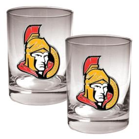 Ottawa Senators 2pc Rocks Glass Set