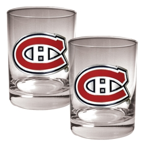 Montreal Canadiens 2pc Rocks Glass Set