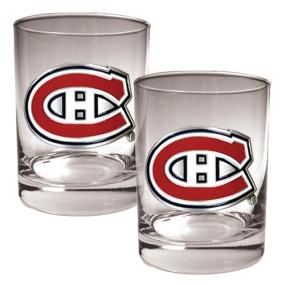 Montreal Canadiens 2pc Rocks Glass Set