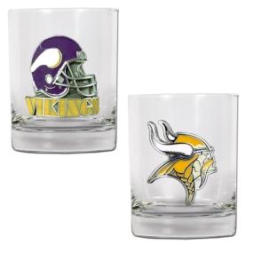 Minnesota Vikings 2pc Rocks Glass Set