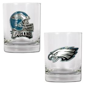 Philadelphia Eagles 2pc Rocks Glass Set