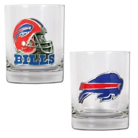 Buffalo Bills 2pc Rocks Glass Set