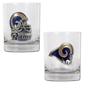 Saint Louis Rams 2pc Rocks Glass Set