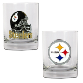 Pittsburgh Steelers 2pc Rocks Glass Set