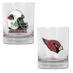 Arizona Cardinals 2pc Rocks Glass Set
