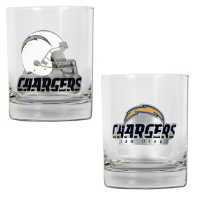 San Diego Chargers 2pc Rocks Glass Set