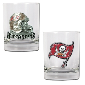 Tampa Bay Buccaneers 2pc Rocks Glass Set