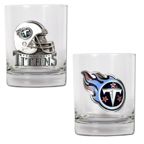 Tennessee Titans 2pc Rocks Glass Set