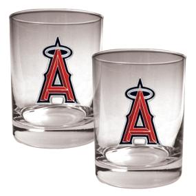 Anaheim Angels 2pc Rocks Glass Set