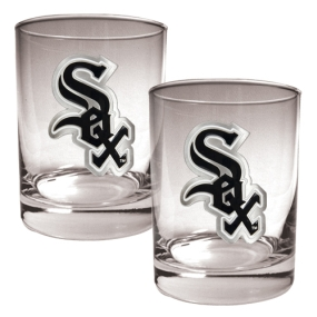 Chicago White Sox 2pc Rocks Glass Set