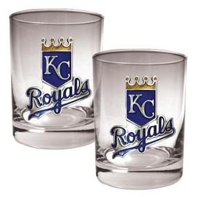Kansas City Royals 2pc Rocks Glass Set