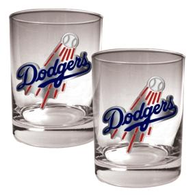Los Angeles Dodgers 2pc Rocks Glass Set