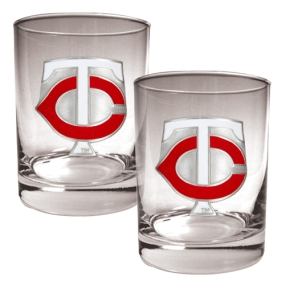 Minnesota Twins 2pc Rocks Glass Set