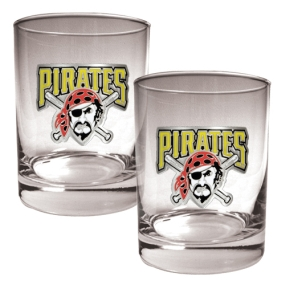 Pittsburgh Pirates 2pc Rocks Glass Set