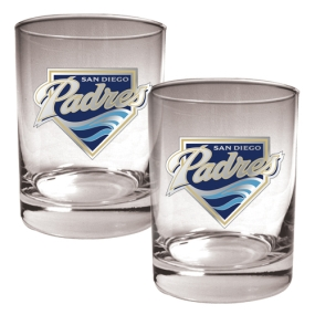 San Diego Padres 2pc Rocks Glass Set