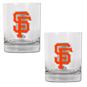 San Francisco Giants 2pc Rocks Glass Set