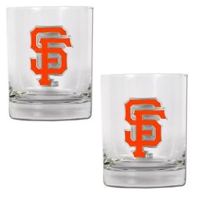 San Francisco Giants 2pc Rocks Glass Set