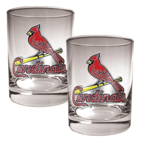 Saint Louis Cardinals 2pc Rocks Glass Set