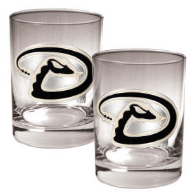 Arizona Diamondbacks 2pc Rocks Glass Set