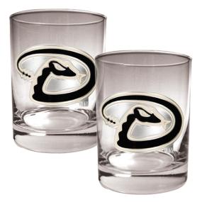 Arizona Diamondbacks 2pc Rocks Glass Set