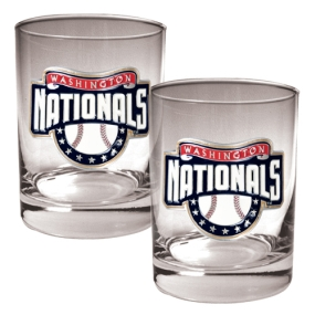 Washington Nationals 2pc Rocks Glass Set