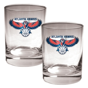 Atlanta Hawks 2pc Rocks Glass Set