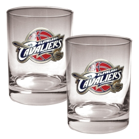 Cleveland Cavaliers 2pc Rocks Glass Set