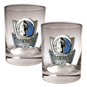 Dallas Mavericks 2pc Rocks Glass Set