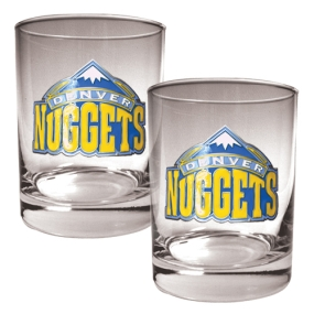 Denver Nuggets 2pc Rocks Glass Set