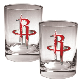 Houston Rockets 2pc Rocks Glass Set