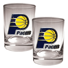 Indiana Pacers 2pc Rocks Glass Set