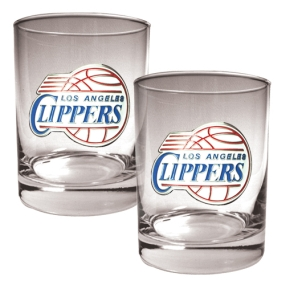 Los Angeles Clippers 2pc Rocks Glass Set