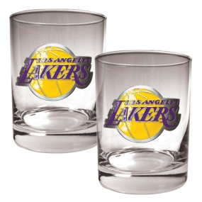 Los Angeles Lakers 2pc Rocks Glass Set
