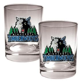 Minnesota Timberwolves 2pc Rocks Glass Set