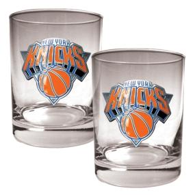New York Knicks 2pc Rocks Glass Set