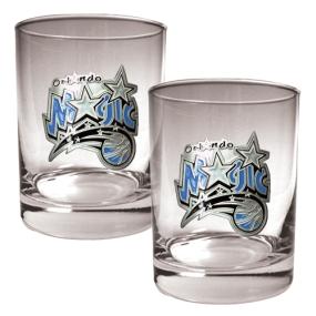 Orlando Magic 2pc Rocks Glass Set