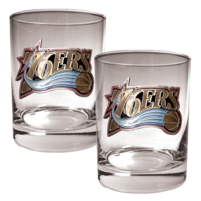 Philadelphia 76ers 2pc Rocks Glass Set
