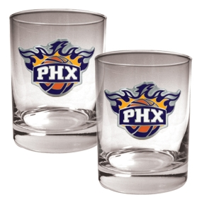 Phoenix Suns 2pc Rocks Glass Set