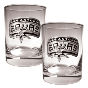 San Antonio Spurs 2pc Rocks Glass Set