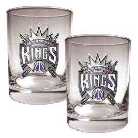 Sacramento Kings 2pc Rocks Glass Set