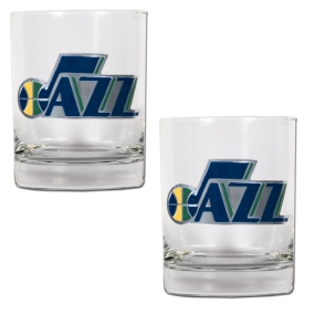 Utah Jazz 2pc Rocks Glass Set