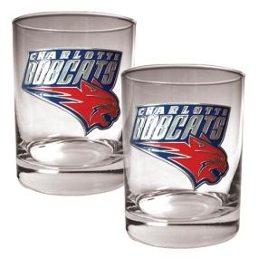 Charlotte Bobcats 2pc Rocks Glass Set