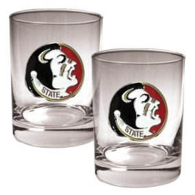 Florida State Seminoles 2pc Rocks Glass Set