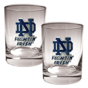 Notre Dame Fighting Irish 2pc Rocks Glass Set