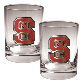 N.C. State Wolfpack 2pc Rocks Glass Set