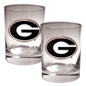 Georgia Bulldogs 2pc Rocks Glass Set
