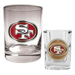 San Francisco 49ers Rocks Glass & Shot Glass Set